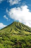зеленая гора Гавайских островов Стоковая Фотография