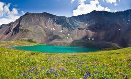зеленая гора озера Стоковое Изображение