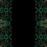 Зеленая граница дерева изолированная на черной предпосылке также вектор иллюстрации притяжки corel бесплатная иллюстрация