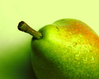 зеленая груша Стоковые Изображения
