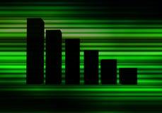 Зеленая диаграмма Стоковое фото RF