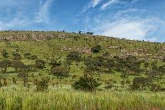 Зеленая долина в malanje, Анголе вышесказанного стоковое изображение
