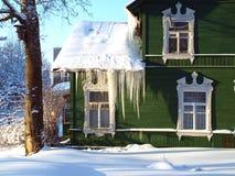 зеленая дом сельская Стоковые Изображения