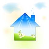 зеленая дом Иллюстрация вектора