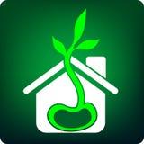 зеленая дом иллюстрация штока