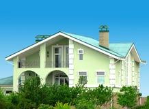 зеленая дом Стоковое Изображение