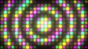 Зеленая, желтая и розовая стена света акции видеоматериалы