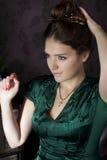 зеленая женщина Стоковое Изображение
