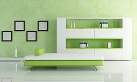 зеленая живущая белизна комнаты иллюстрация вектора