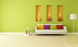 зеленая живущая комната иллюстрация вектора
