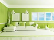 зеленая живущая комната бесплатная иллюстрация