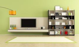Зеленая живущая комната иллюстрация штока