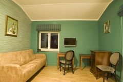 зеленая живущая комната Стоковые Фото