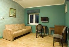 зеленая живущая комната Стоковые Фотографии RF