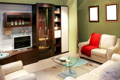 зеленая живущая комната Стоковое Фото