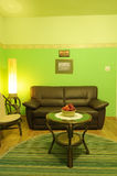 зеленая живущая комната Стоковое фото RF