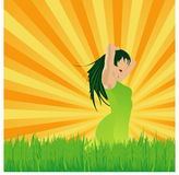зеленая жизнь Стоковое Изображение RF