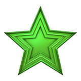 зеленая звезда иллюстрация штока