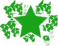 зеленая звезда halftone Иллюстрация штока