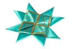 Зеленая звезда origami от тесемки Стоковые Изображения