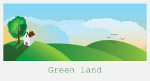 зеленая земля Стоковая Фотография RF