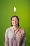 зеленая идея Стоковое фото RF