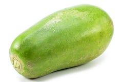 Зеленая изолированная папапайя Стоковые Изображения