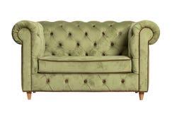 Зеленая изолированная софа ткани Стоковое Изображение