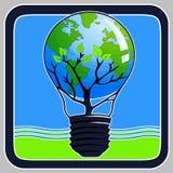 зеленая икона думает Стоковое Изображение