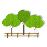 Зеленая икона пущи на белизне Стоковое Изображение RF
