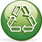 зеленая икона Стоковое фото RF