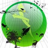 зеленая икона 3 Стоковое Изображение RF