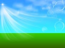 Зеленая и голубая fairy предпосылка Бесплатная Иллюстрация