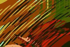 Абстрактная современная предпосылка Творческие красочные формы и формы r Зеленая и красная яркая графическая текстура бесплатная иллюстрация