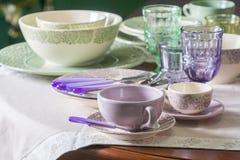 Зеленая и фиолетовая страна ввела плиты в моду Стоковые Фото