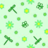зеленая картина безшовная Стоковое Изображение