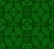 зеленая картина безшовная Стоковые Изображения