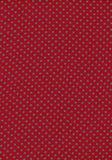 Зеленая картина сбора винограда многоточия польки на красном textu ткани Стоковые Изображения