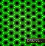 Зеленая картина шестиугольника волокна углерода Предпосылка и текстура вектор экрана иллюстрации 10 eps Стоковые Фото