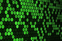 Зеленая картина шестиугольника стоковые изображения
