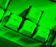 зеленая клавиатура Стоковые Изображения RF