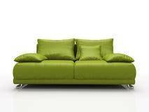 зеленая кожаная софа Стоковые Изображения RF