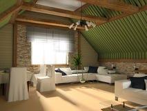 зеленая комната Стоковые Изображения