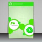 Зеленая конструкция рогульки eco Стоковая Фотография RF
