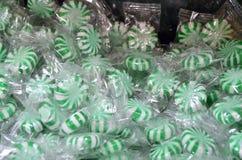 Зеленая конфета мяты стоковые фото