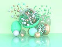 Зеленая концепция сюрприза перевода конспекта 3d украшения воздушного шара бесплатная иллюстрация