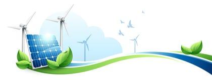 Зеленая концепция энергии иллюстрация вектора