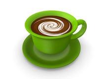 Зеленая кофейная чашка 3d представляет Стоковое Изображение RF