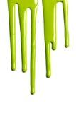 Зеленая краска капания Стоковое Изображение
