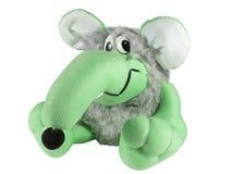 Зеленая крыса плюшевого медвежонка Стоковое Изображение